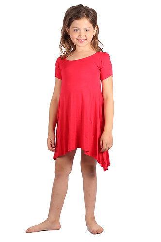 Red Comfy Swing Dress