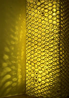 Honeycomb upright and hanging light