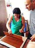 סדנה להכנת נייר לאוריגמי בג'ת