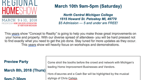 2018 HBA of Northern Michigan Home Show-THIS WEEKEND!