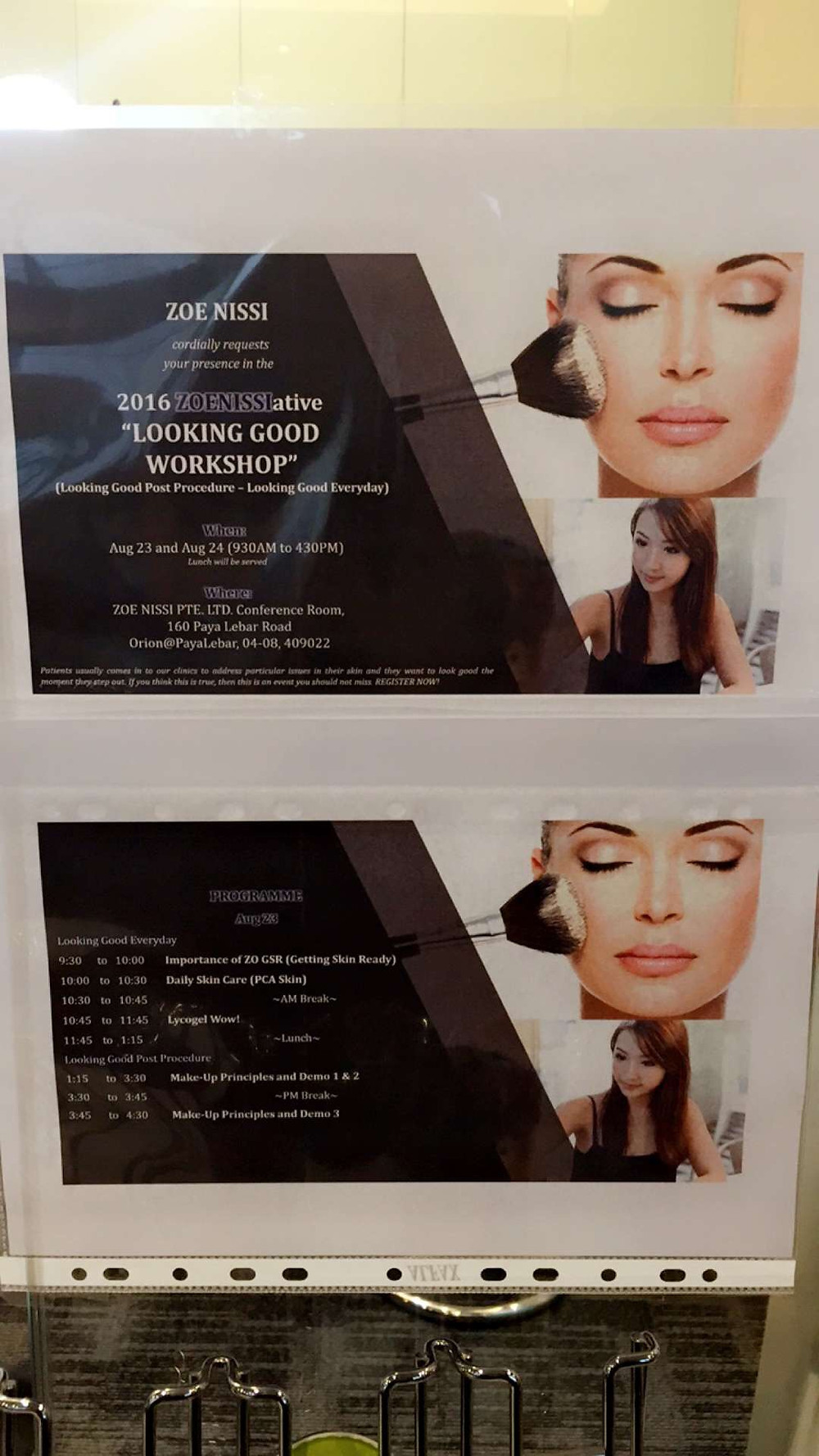 Held a 2 day Makeup Demo workshop with Zoe Nissi Pte Ltd at their office on 23rd & 24th August.
