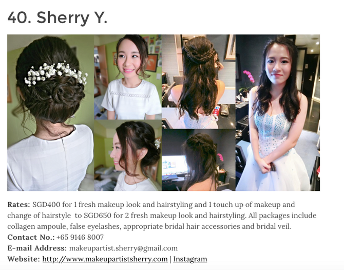 """52 Best Bridal Makeup Artists in Singapore"" as featured on Daily Vanity SG"
