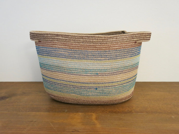 Large Two-Handle Oval Basket
