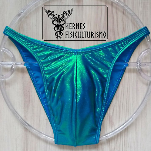 Sunga Azul c/ Verde Camaleão