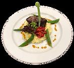 Erdäpfepüree mit Fisolen, Tomate und Fleisch