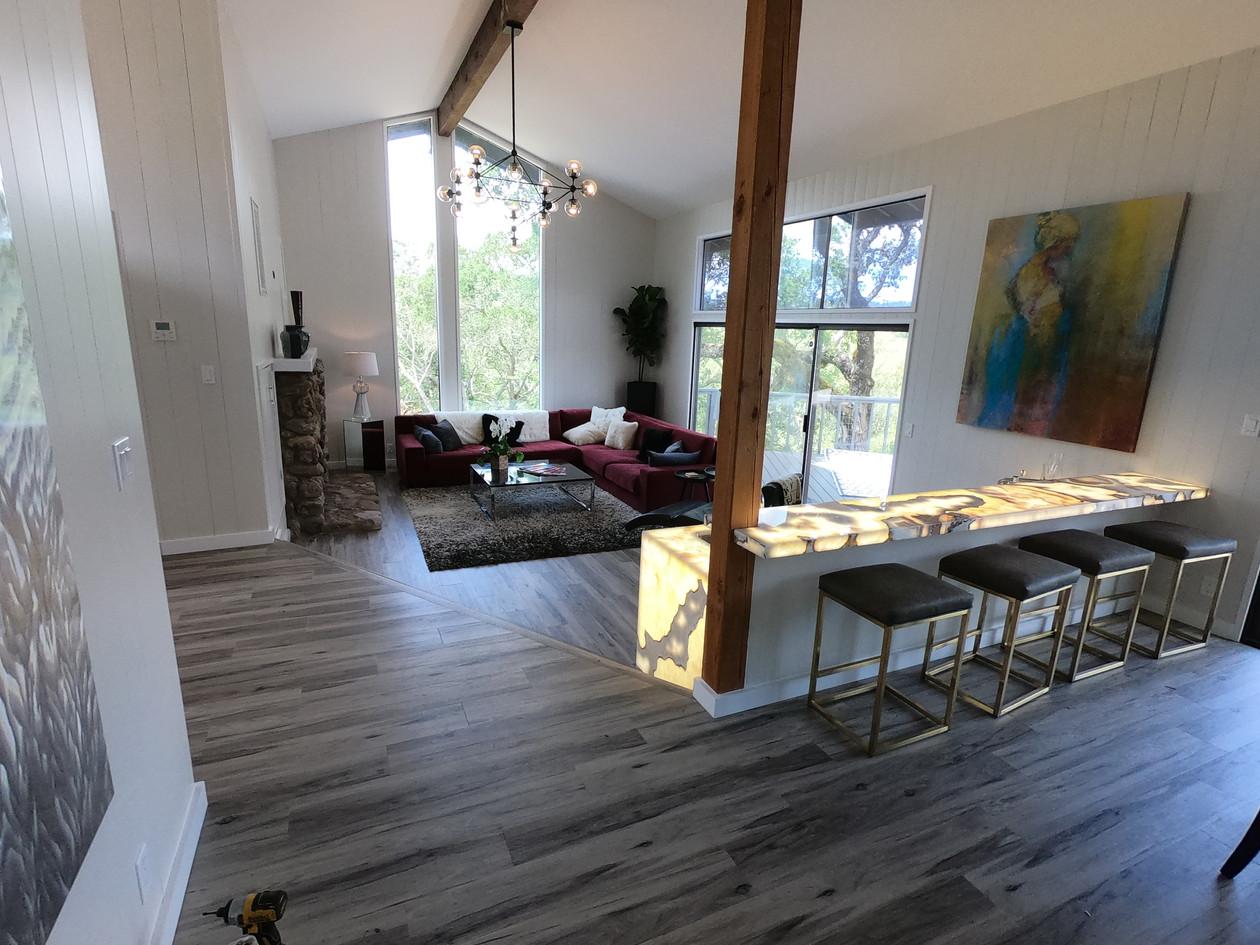 Half wall multipurpose living space