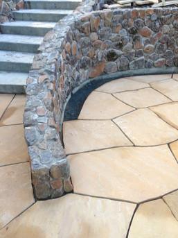 Custom stone railing