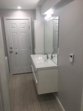 Refreshed bathroom sink area
