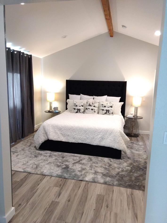 Slanted wall bedroom
