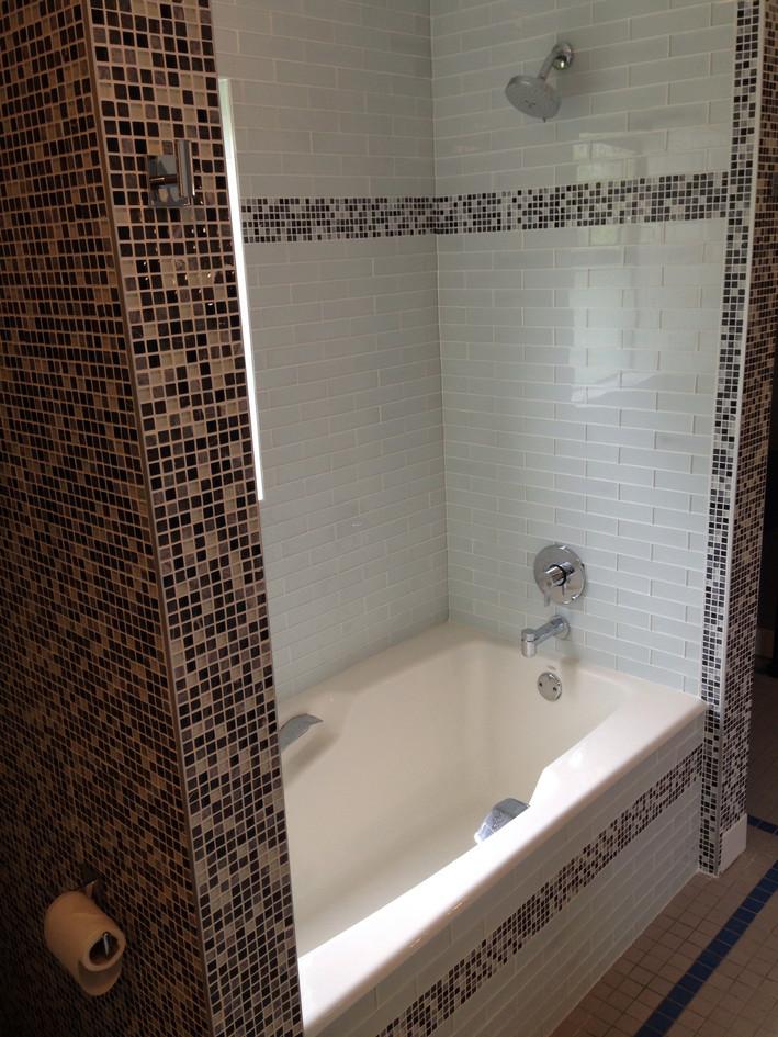 Bath with custom tile