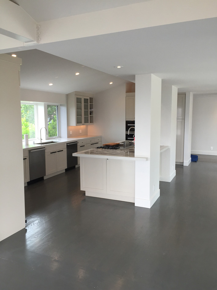 Kitchen opens out to living space
