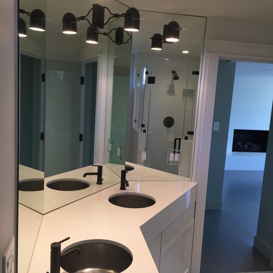 Custom dual vanity sink
