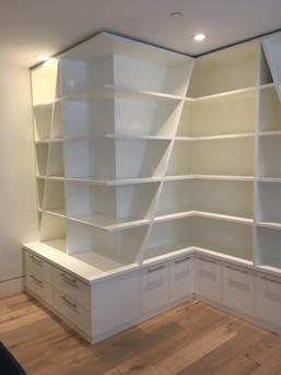 Custom wall bookcase