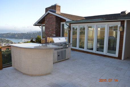 Outdoor patio and cooking space