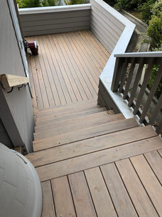 Stairs leading to outdoor deck