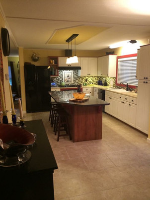 Multipurpose kitchen with built-in island