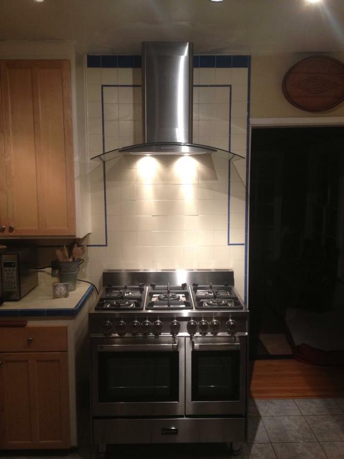 Custom backsplash and stove area