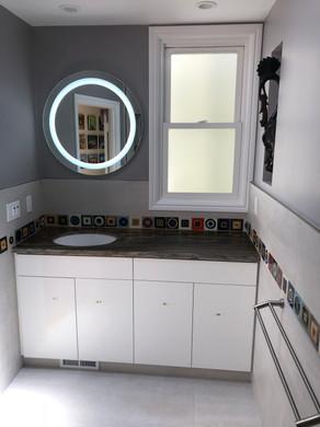Remodeled sink area