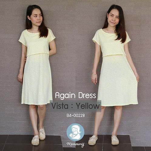 Again Dress (Vista : Yellow) -  ชุดให้นม แบบเปิดหน้า