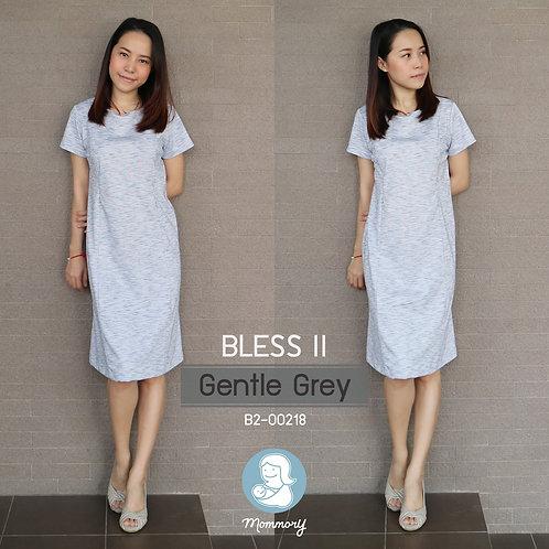 Bless II (Gentle Grey) - ชุดให้นมแบบซิปซ่อน