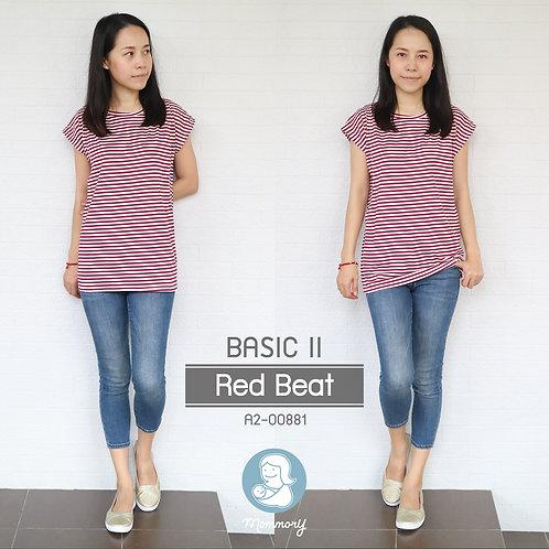 Basic II (Red Beat) - เสื้อให้นม แบบแหวกข้าง
