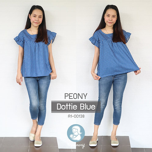 Peony (Dottie Blue) - เสื้อให้นม แบบซิปซ่อน