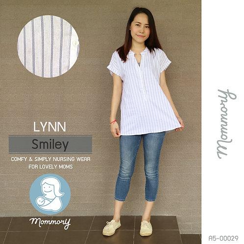Lynn (Smiley) - เสื้อให้นม แบบกระดุมหน้า