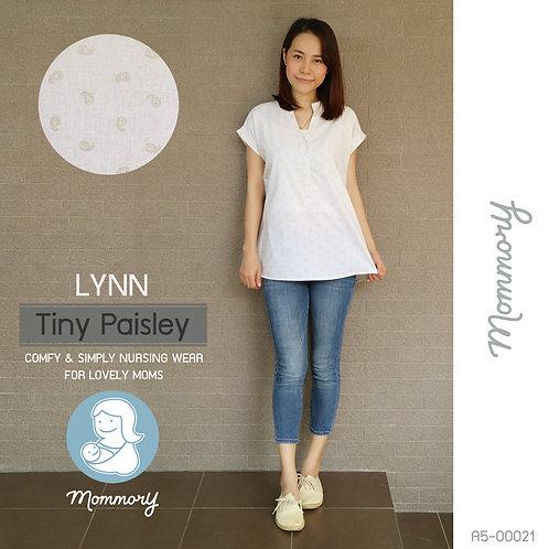Lynn (Tiny Paisley) - เสื้อให้นม แบบกระดุมหน้า