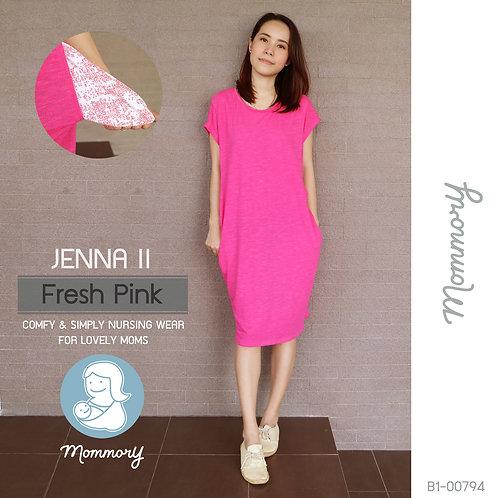 Jenna II (Fresh Pink)  - เสื้อให้นม/ชุดให้นม แบบแหวก
