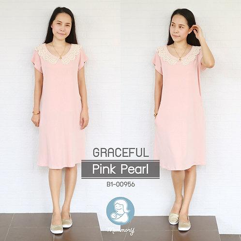Graceful (Pink Pearl) - ชุดให้นม แบบแหวก