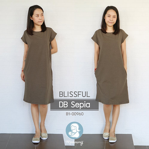 Blissful (DB Sepia) - เสื้อให้นม/ชุดให้นม แบบแหวก