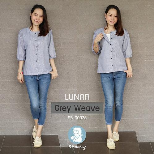 Lunar (Grey Weave)  - เสื้อให้นม แบบกระดุมหน้า