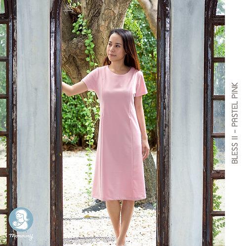 Bless II (Pastel Pink) - ชุดให้นมแบบซิปซ่อน