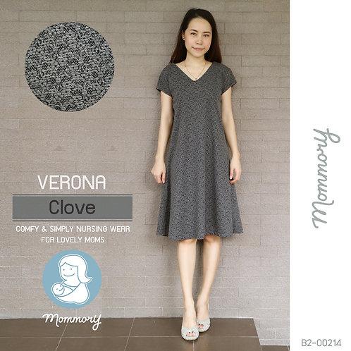 Verona (Clove) - ชุดให้นมแบบซิปซ่อน