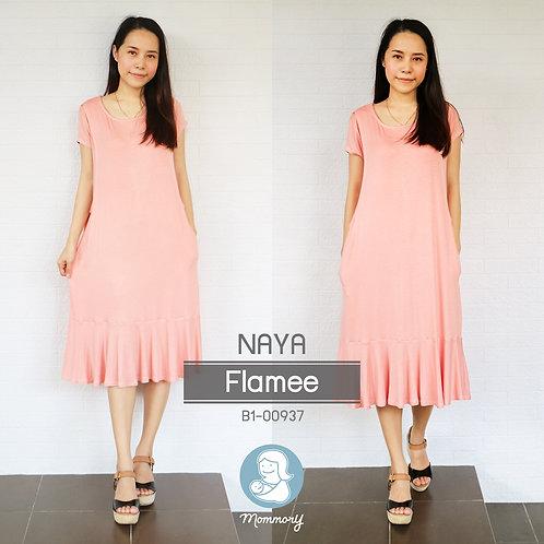 Naya (Flamee)  - เสื้อให้นม/ชุดให้นม แบบแหวก