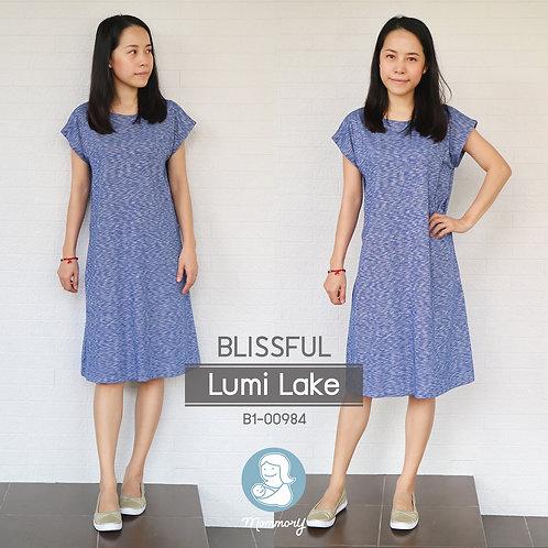 Blissful (Lumi Lake)  - เสื้อให้นม/ชุดให้นม แบบแหวก
