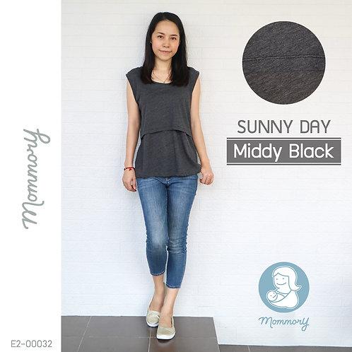 Sunny Day (Middy Black)   - เสื้อแขนกุดให้นม