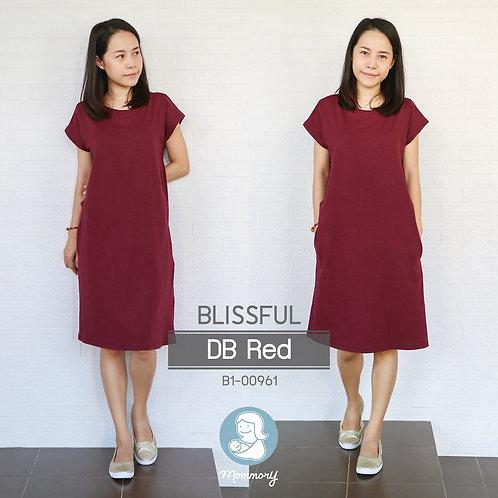 Blissful (DB Red) - เสื้อให้นม/ชุดให้นม แบบแหวก