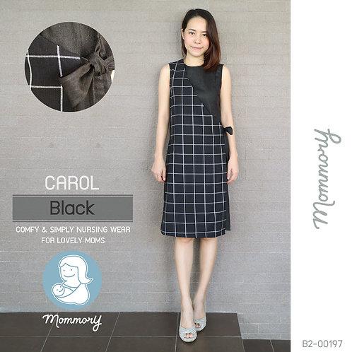 Carol (Black) - ชุดให้นมแบบซิปซ่อน