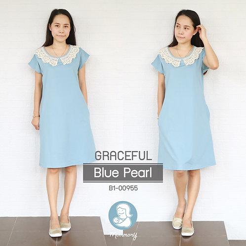 Graceful (Blue Pearl)  - ชุดให้นม แบบแหวก