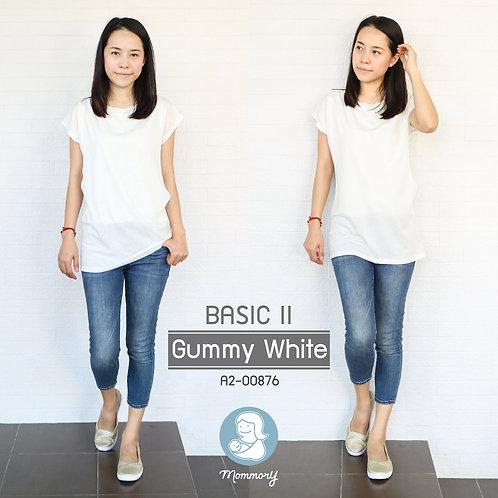Basic II (Gummy White) - เสื้อให้นม แบบแหวกข้าง