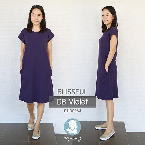 Blissful (DB Violet) - เสื้อให้นม/ชุดให้นม แบบแหวก