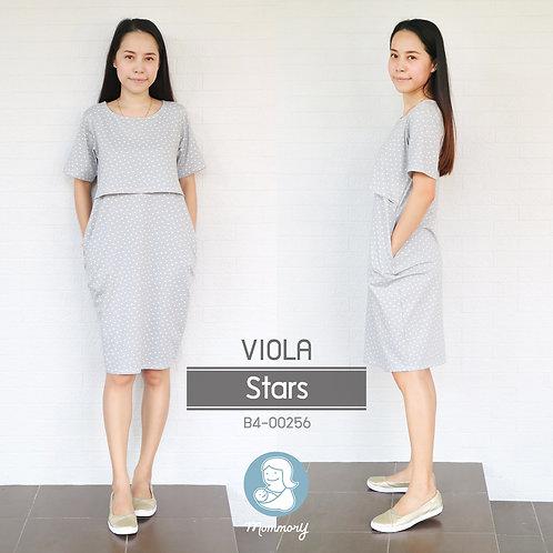 Viola (Stars) -  ชุดให้นม แบบเปิดหน้า