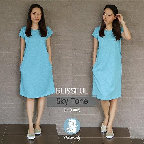 Blissful (Sky Tone) - เสื้อให้นม/ชุดให้นม แบบแหวก