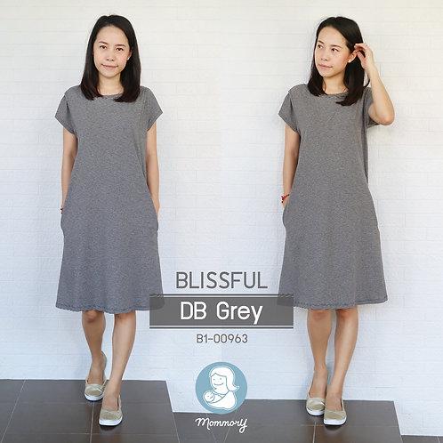 Blissful (DB Grey) - เสื้อให้นม/ชุดให้นม แบบแหวก