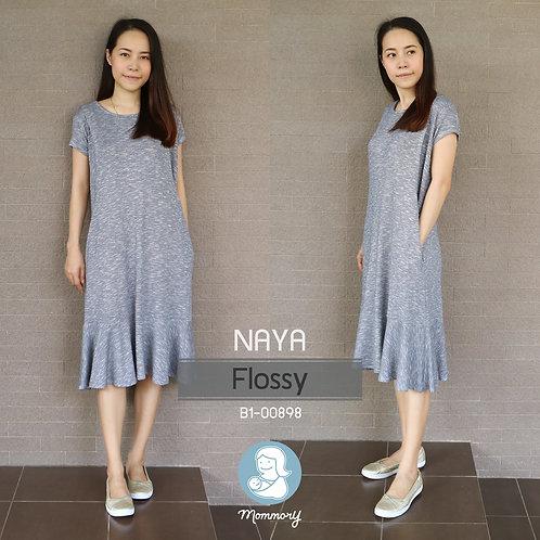 Naya (Flossy) - เสื้อให้นม/ชุดให้นม แบบแหวก