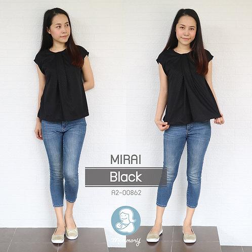 Mirai (Black) - เสื้อให้นม แบบแหวก