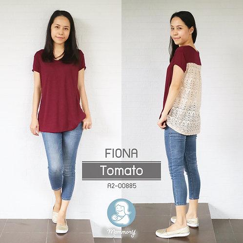 Fiona (Tomato)  - เสื้อให้นม แบบแหวกข้าง