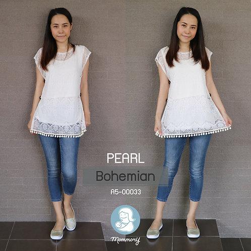 Pearl (Bohemian) - เสื้อให้นม แบบแหวก