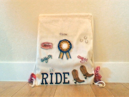 D.I.Y horse lovers drawstring bag!